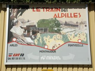 Visite au train des Alpilles